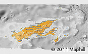 Political Shades 3D Map of Northern, desaturated