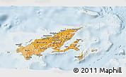 Political Shades 3D Map of Northern, lighten