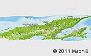 Physical Panoramic Map of Macuata