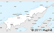 Silver Style Simple Map of Macuata