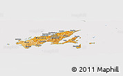 Political Shades Panoramic Map of Northern, cropped outside
