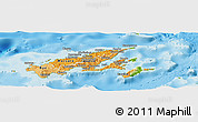 Political Shades Panoramic Map of Northern, physical outside