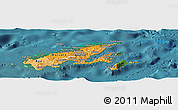 Political Shades Panoramic Map of Northern, satellite outside
