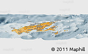 Political Shades Panoramic Map of Northern, semi-desaturated