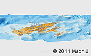 Political Shades Panoramic Map of Northern, shaded relief outside