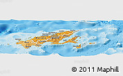 Political Shades Panoramic Map of Northern, single color outside