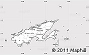 Silver Style Simple Map of Northern, cropped outside