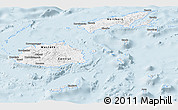 Classic Style Panoramic Map of Fiji, single color outside