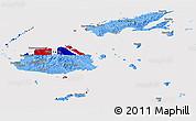 Flag Panoramic Map of Fiji, flag rotated