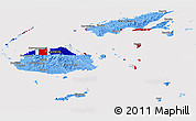 Flag Panoramic Map of Fiji