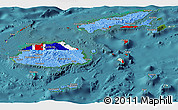 Flag Panoramic Map of Fiji, satellite outside