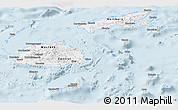 Gray Panoramic Map of Fiji