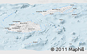 Gray Panoramic Map of Fiji, single color outside