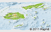Physical Panoramic Map of Fiji, lighten