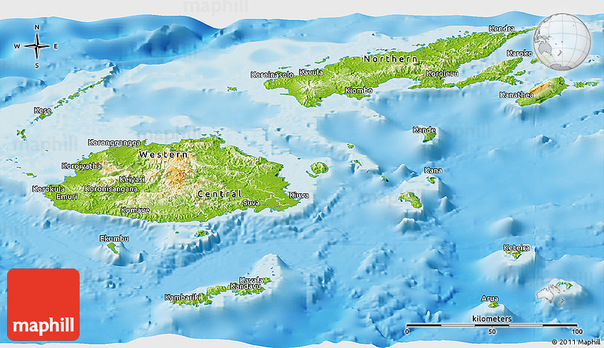 Physical panoramic map of fiji gumiabroncs Image collections