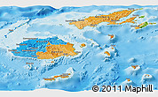 Political Panoramic Map of Fiji, physical outside