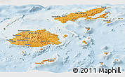 Political Shades Panoramic Map of Fiji, lighten