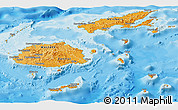 Political Shades Panoramic Map of Fiji
