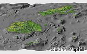 Satellite Panoramic Map of Fiji, desaturated