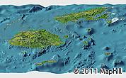 Satellite Panoramic Map of Fiji, political outside, satellite sea