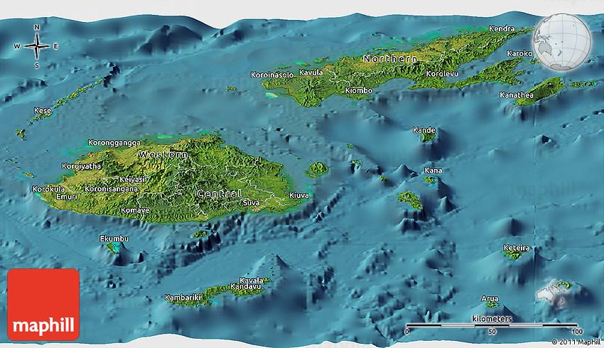 Satellite panoramic map of fiji gumiabroncs Images