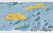 Savanna Style Panoramic Map of Fiji, single color outside