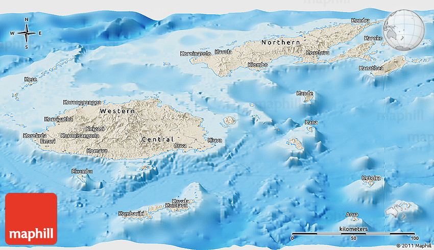 Shaded relief panoramic map of fiji 2d gumiabroncs Gallery