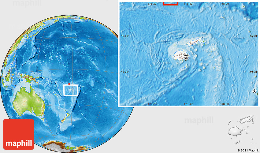 Physical Location Map of Rotuma, highlighted country, within the ...