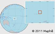 Gray Location Map of Rotuma