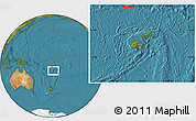 Satellite Location Map of Rotuma, within the entire country