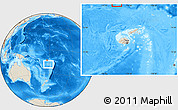Shaded Relief Location Map of Rotuma, within the entire country