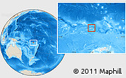 Shaded Relief Location Map of Rotuma, highlighted country