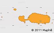 Political Simple Map of Rotuma, cropped outside