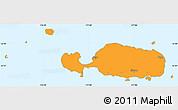 Political Simple Map of Rotuma, single color outside