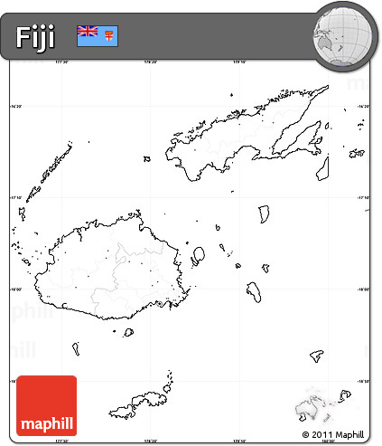 Free Blank Simple Map Of Fiji No Labels