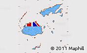 Flag Simple Map of Fiji, flag rotated