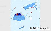 Flag Simple Map of Fiji, single color outside