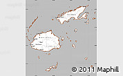 Gray Simple Map of Fiji, cropped outside