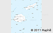 Gray Simple Map of Fiji