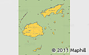 Savanna Style Simple Map of Fiji, cropped outside