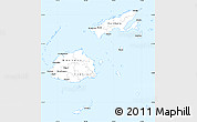 Silver Style Simple Map of Fiji, single color outside