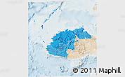 Political Shades 3D Map of Western, lighten