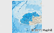 Political Shades 3D Map of Western, shaded relief outside