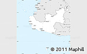 Silver Style Simple Map of Nadroga/Navosa