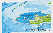 Political Shades Panoramic Map of Western, physical outside
