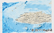 Shaded Relief Panoramic Map of Western
