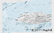 Silver Style Panoramic Map of Western