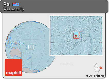 Gray Location Map of Ra, hill shading