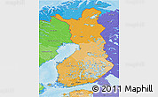 Political Shades 3D Map of Finland