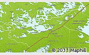 Physical 3D Map of Etelä-Karjala
